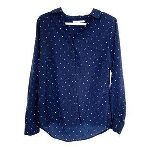 ALFRED SUNG Tops - Navy button down shirt